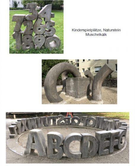 Bildhauer / Künstler Helmut Schlegel - Happerg am Starnberger See hinter der Degerndorfer Höhe - Eurasburg. Skulpturen, Portraits, Kinderspielplatz, Naturstein, Muschelkalk