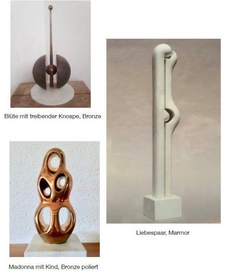 Galerie Helmut Schlegel 2 Helmut Schlegel akad. Bildhauer Happerg / Eurasburg / Wolfratshausen - südl. von München Bronzeskulpturen - Kupferskulpturen - Marmorskulpturen