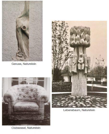 Galerie Bildhauer Helmut Schlegel - Galerie - Naturstein, - Skulpturen - Happerg, Eurasburg bei Wolfratshausen im Süden von München