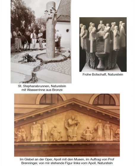 Akad. Bildhauer Helmut Schlegel - Galerie - Happerg bei Eurasburg, südl. von München - hinter der Hans Kastler Meile