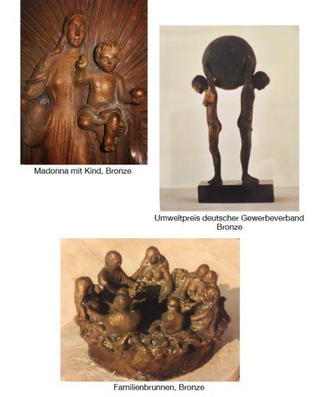 Akad. Bildhauer Helmut Schlegel - Happerg bei Eurasburg, hinter der Hans Kastler Meile - südliche von München - Umweltpreis deutscher Gewerbeverband Bronze