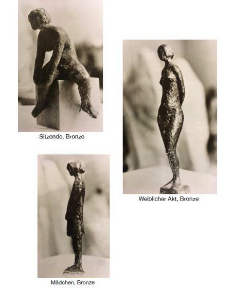 Akademischer Bildhauer Helmut Schlegel - Happberg bei Eurasburg, hinter der Hans Kastler Meile Galerie Helmut Schlegel - akad. Bildhauer - Bronzefiguren weiblich, Akt, sitzend, Mädchen